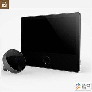 Image 1 - Youpin Luke porte intelligente sonnette vidéo oeil de chat édition jeunesse CatY gris Mihome App contrôle rechargeable IPS affichage grand Angle