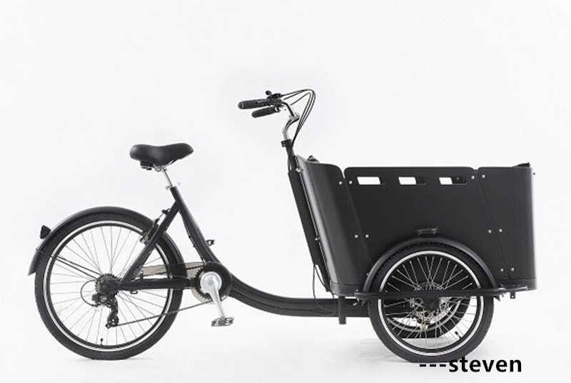 RL-T05C 子供自転車食品配信リチウムバッテリー電源 3 ホイール電動貨物自転車ペダルトライク三輪車