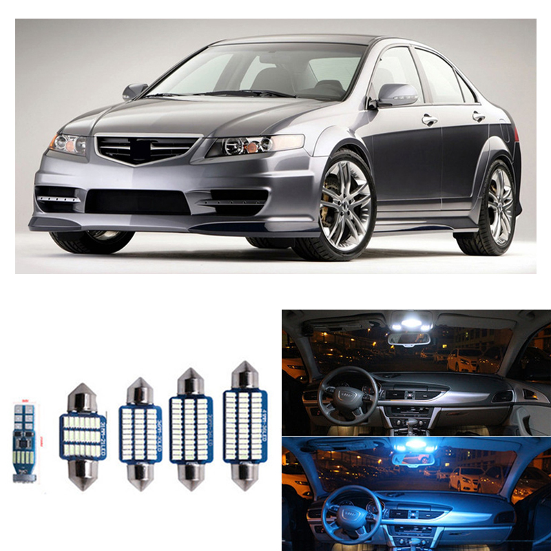 10Pcs Canbus Car LED Light Bulbs Interior Package Kit For <font><b>Acura</b></font> <font><b>TSX</b></font> 2004 2005 2006 <font><b>2007</b></font> 2008 Map Dome Trunk Step Courtesy Lamp image