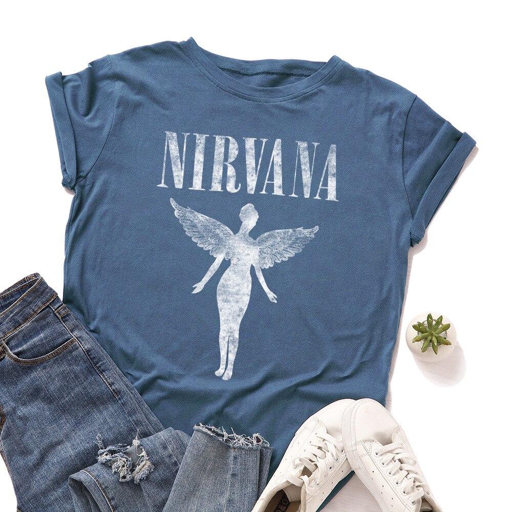 2020 Summer Women Tshirt Letter Print Short Sleeve Tees Tops Ladies Harajuku Angel Plus Size T Shirt Streetwear Woman T-shirts