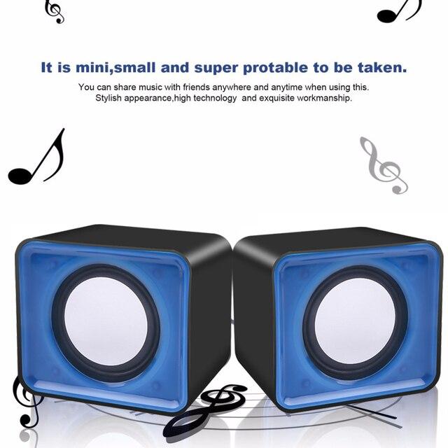 kebidu Universal USB 2.0 Music Speaker Mini Music Stereo Speakers 3.5mm Pulg For Multimedia Desktop Computer Notebook 4