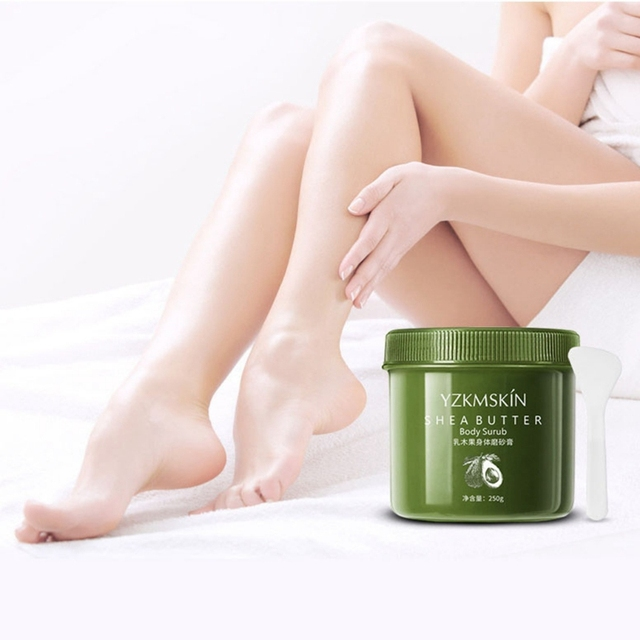 Shea Butter/Coffee Body Scrub Cream Moisturizing Nourishing Whitening Removal Dead Skin Exfoliating Body Skin Care 3