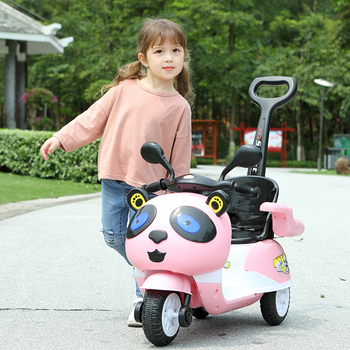 Children's electric motorcycle Tricycle boy and girl baby battery car Rechargeable remote control toy car