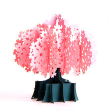 3D Pop Up Greeting Cards Cherry Blossoms Birthday Postcards Christmas Valentine' Day Marriage Invitation Gift Wedding Decoration [funny] put ring or other gift in the davinci code cryptex valentine s day birthday gift unique marriage proposal free lotr ring