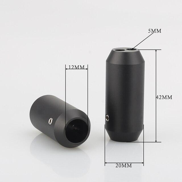 4pcs HIFI אודיו מכנסיים Y ספליטר RCA כבל רמקול כבל חוט מכנסיים alluminium 12mm כדי 2*5mm אתחול