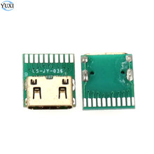 YuXi 1pcs Mini HDMI C TYPE female connector Mini hdmi female socket With PCB board Replacement