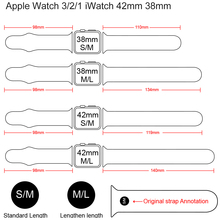 Silicone strap For Apple Watch band 38mm 42mm iwatch 5 Band 44mm 40mm Sport bracelet Rubber watchband for  iwatch 4 3 2 1