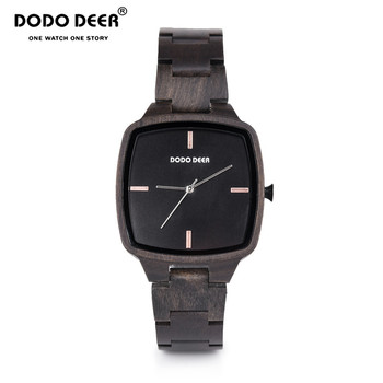 relogio masculino DODO DEER Men Watch Wood Ebony Watches Timepieces Sport Watch Quartz Wristwatch in wooden Boxes Dropship C02
