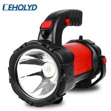 Lanterna led multifuncional, usb, recarregável, para acampamento, emergência, caminhadas, pescar