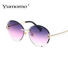 2019 Fashion Round Frameless trimming Sunglasses Women Men Diamond Sun Glasses Brand Design Vintage