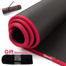 10mm Addensato antiscivolo Yoga Stuoie E Tappetini Per Il Fitness Sport Palestra di Alta Qualità NRB INSAPORE Yoga Delle Donne Degli Uomini di Esercizio Pilates Yoga sacchetto della stuoia di yoga