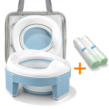 Baby Portable Toilet Potty Training Seat Multifunctional 3 in 1 Travel Toilet Seat Foldable Children Potty With Bags