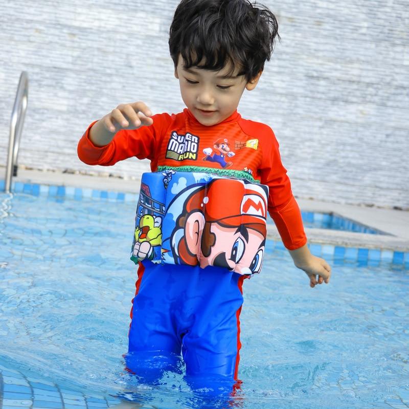 CHILDREN'S Buoyancy Swimsuit Baby BOY'S Boy BABY'S Bathing Suit One-piece Long Sleeve Floating Swimwear