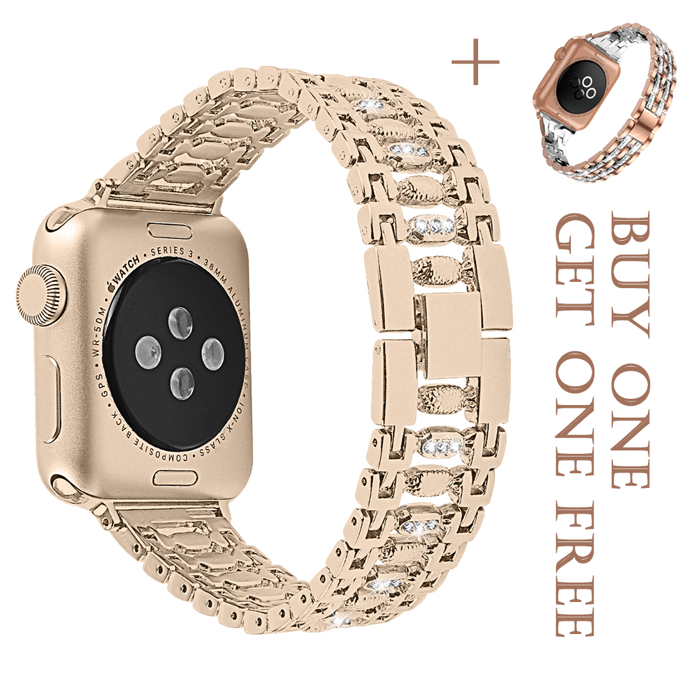 Diamond Strap For Apple Watch Band 42mm 38mm iwatch band 5 4 3 2 1 44mm 40mm watch strap bracelet watch Band Accessories