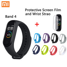 Original Xiaomi Mi Band 4 Smart Miband 3 Color Screen Bracelet Heart Rate Fitness Music Bluetooth 50M Waterproof Band4(China)