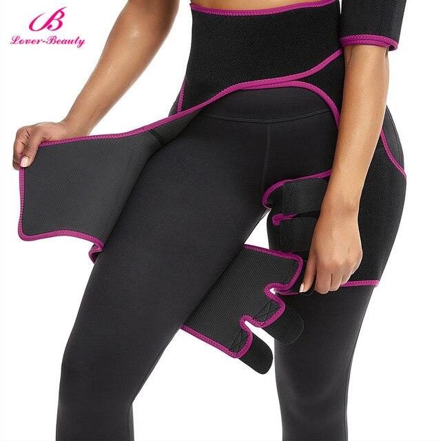 Women Neoprene Slimming Belt Body Leg Shaper Weight Loss Fat Burning Waist Trainer Sweat Waist Belt  Workout Thigh Shaper 2