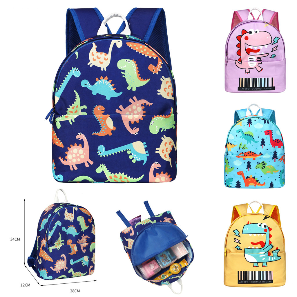 Children Schoolbag Cartoon Animal Kid Boy Girl Children Toddler Cartoon Dinosaur School Bag Backpack Rucksack New Fashion Packet