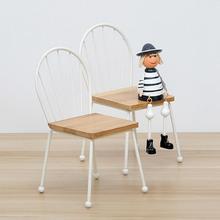 1/12 en miniatura de madera silla Mona muñeca Casa habitación decoración dormitorio fotografía Prop decoración Vintage Para el hogar Adornos Para la Casa