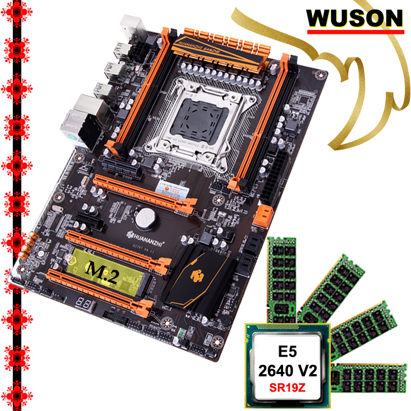 Hot Featured HUANANZHI deluxe X79 gaming motherboard computer DIY CPU Intel <font><b>Xeon</b></font> <font><b>E5</b></font> <font><b>2640</b></font> V2 SR19Z memory 16G(4*4G) DDR3 REG ECC image