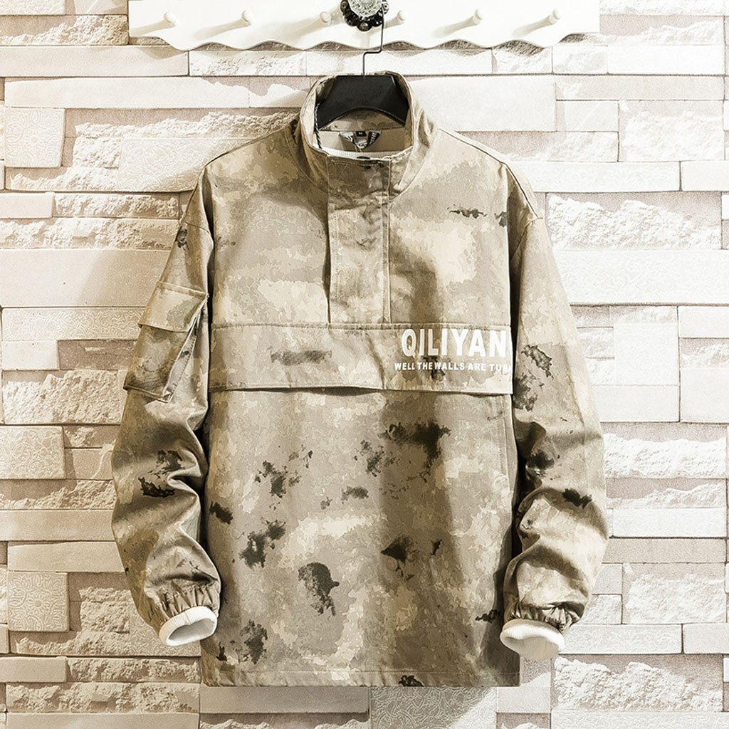 Couples Casual Camouflage Patchwork Pullover Hoodie Sport Jacket Outwear Coat Zipper Casual Jacket Mens Outwear Anorak 10.8