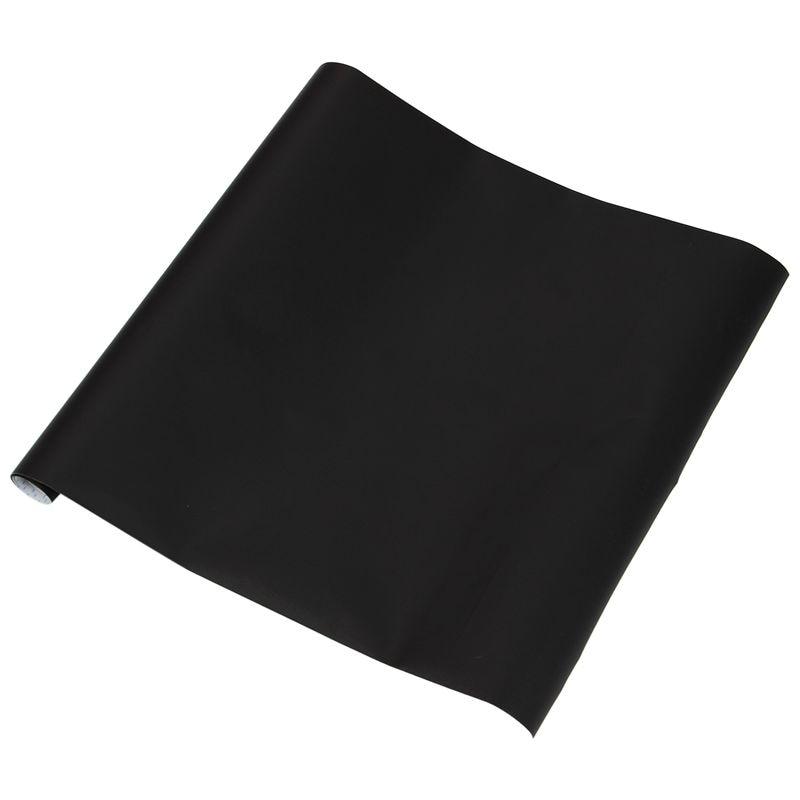 Chalkboard Blackboard Stickers Removable Draw Erasable Blackboard Learning Multifunction Office (Black, 45*100cm)