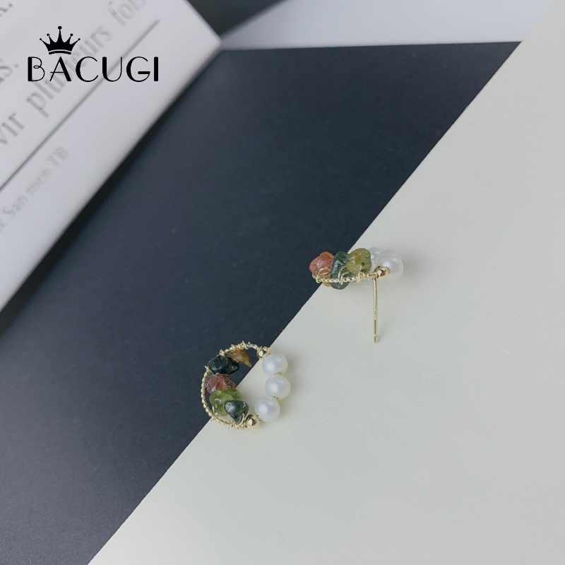 การออกแบบเดิมไข่มุกธรรมชาติสำหรับผู้หญิง Boho CUSTOM Earrings Handmade Fine เครื่องประดับ