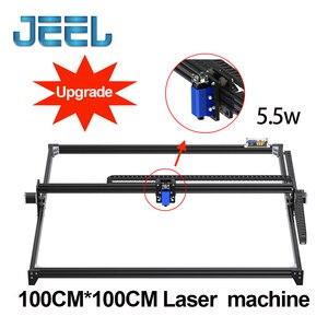 Image 1 - 1*1M2.5W/ 5.5W /15W CNC GRBL Laser Engraver Machine  TTL /PWM Control DIY 100*100cm Engraveing Machine Desktop CNC Router/Cutter
