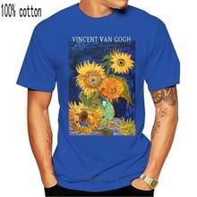 Van Gogh pięć słoneczników 1888, grafika T-Shirt męski kobiety dzieci Art Style Tee duży rozmiar koszulki