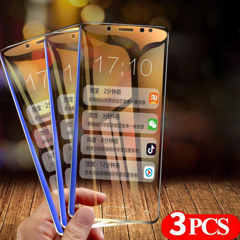 Tempered Glass For Samsung Galaxy A50 A30 A20 3PCS Screen Protector Glass For Samsung M10 M20 M30 A40 A70 A80 A90 A10 A60 Glass