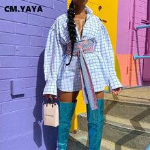 CM.YAYA abotonada-Blusa de manga larga para mujer, camisa de manga larga con fajas abotonada, 2021