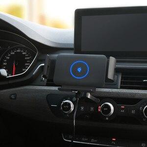 Image 2 - Qi voiture chargeur sans fil 10W Auto serrage support de téléphone pour Samsung Galaxy pli Fold2 S10 iPhone XS 11 Max Xiaomi Huawei Mate X