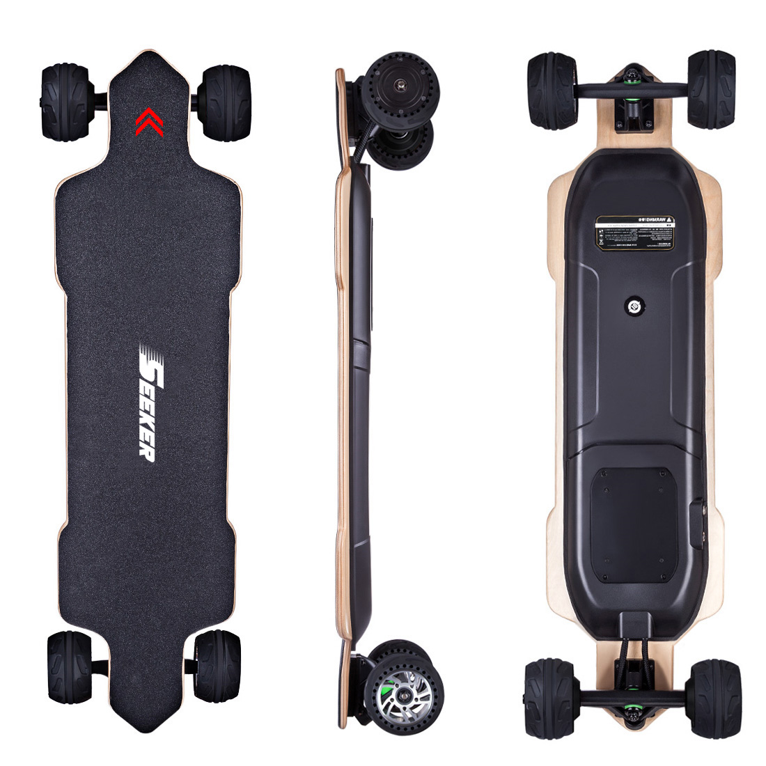 New SEEKERS CT-03 4-Wheel Electric Skateboard - AU Plug