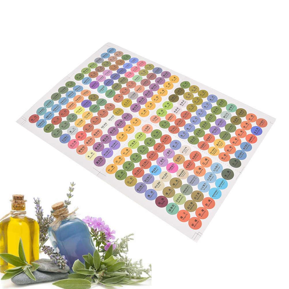 216 Pcs/Copriletto Bottiglie Cap Coperchio Etichette Rotondi Del Cerchio Adesivi Colorati per Young Living Oli Organizzatore Pre-Stampato olio Essenziale
