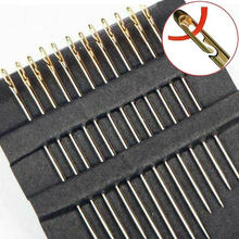 12Pcs/set Stainless Steel Sewing Needles Blind Needle Threading Hand Sewing Elderly Embroidery Needle Apparel Sewing Pins