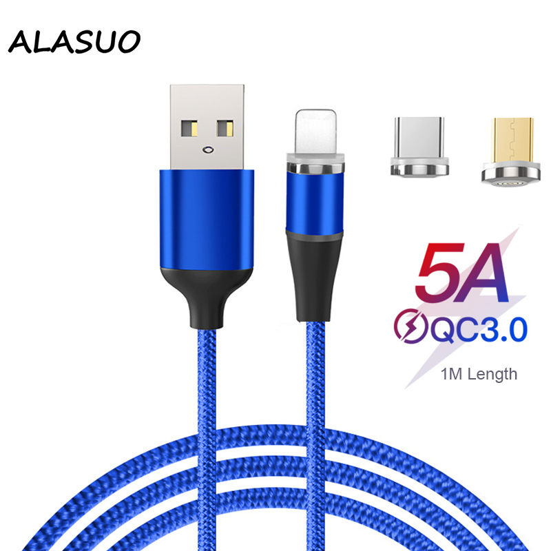 5A Magnet <font><b>Usb</b></font> <font><b>Cable</b></font> Type C <font><b>Cable</b></font> For Xiaomi Micro <font><b>USB</b></font> Charger braided wire <font><b>Cable</b></font> Mobile Phone <font><b>Cable</b></font> Magnetic Charging Cord image