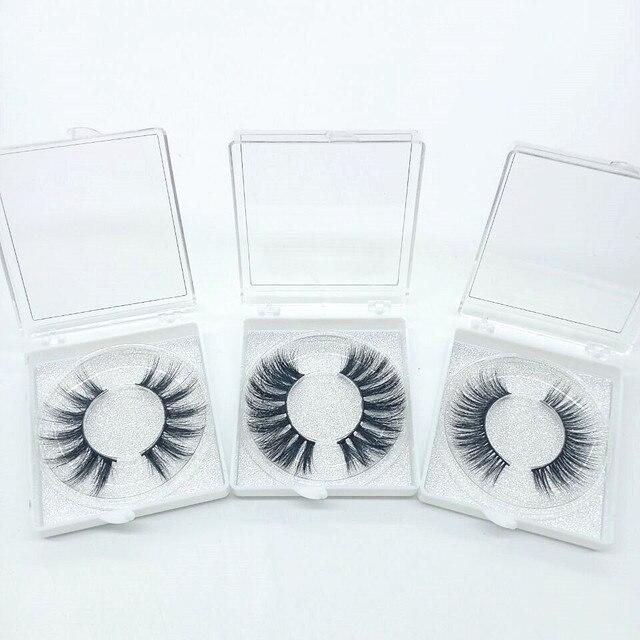 Natural silk eyelashes fake lashes long makeup 25mm eyelash for beauty 4