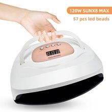 120 Вт лампа для ногтей УФ светодиодный Сушилка 57 шт бусины