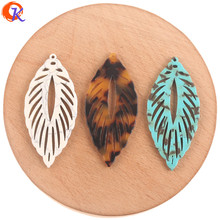 Cordial Design 24*53mm 50Pcs Jewelry Accessories/DIY Making/Earrings Connectors/Leaf Shape/Hand Made/Jewelry Findings Component