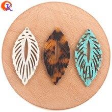 Cordial Design accessoires de bijouterie, fabrication/boucles doreilles/forme de feuille/fait à la main, 50 pièces, connecteurs de bijouterie 24*53mm