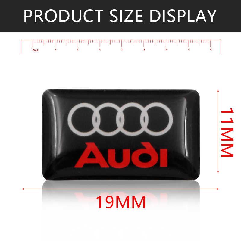 1 pièces insigne de voiture autocollant voiture volant petit autocollant Pour Audi a3 a4 a5 a6 a7 a8 b5 b6 b7 b8 c6 c7 c8 8v 8p voiture accessoires