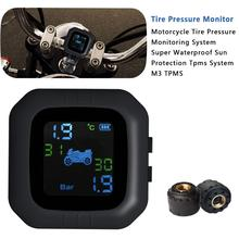 цены Motorcycle Tire Pressure Monitoring System TPMS Waterproof Real-time Monitoring Cordless High Precision Tire Pressure Alarm