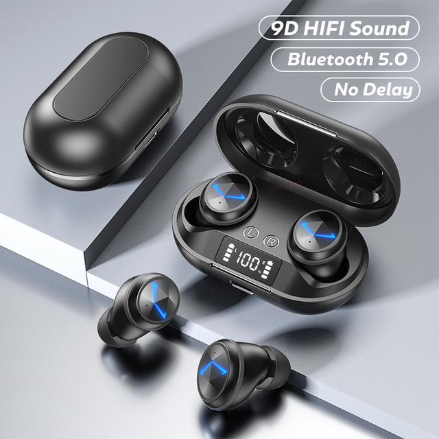 Wireless Headphones TWS Bluetooth 5 0 Earphones Smart Noise Cancelling Sport Waterproof Headset Music Headphones With Microphone