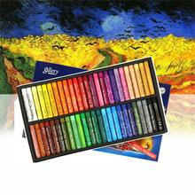 12 25 50 kolory okrągły kształt oleju pastelowe MUNGYO mopy pastele olejne dla artysty uczeń Graffiti malarstwo pióro do rysowania miękka kredka tanie tanio Zestaw 12 kolory MOPS 6 kolory box Wosk caryon
