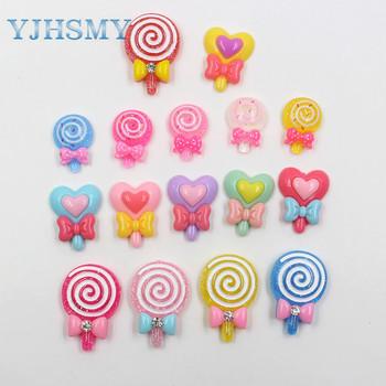 YJHSMY 20312-14 10 sztuk 24mm * 19mm różne styl kolorów Lollipop ozdoby ozdoby ozdoby ozdoby materiały ręcznie robione DIY tanie i dobre opinie