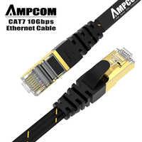 AMPCOM Cavo Ethernet RJ45 Cat7 Lan Cavo STP RJ 45 di Rete Piatto Cavo Patch Cavo per Modem, Router, TV, Patch Panel, PC, Computer Portatile