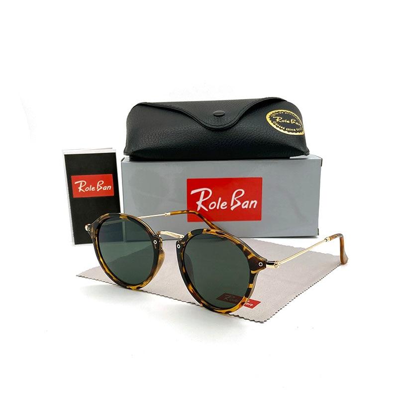 Fashion Brand Round Sunglasses Women Vintage Rimless Sun Glasses Shades Men Retro Coating Mirror Eyewear UV400