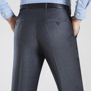 Image 4 - Letni biznes cienki kombinezon spodnie dla mężczyzn rozmiar 29 56 wiosna jesień mężczyzna formalne jednolity jedwab długie spodnie wizytowe workowate spodnie biurowe