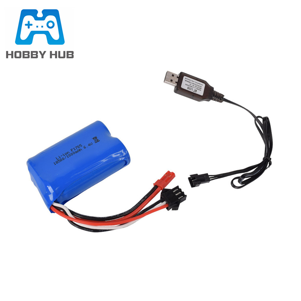 6.4 V 350 mA EU chargeur EL-2P plug for RC Model Buggy Voiture Camion Racing Boat Navire