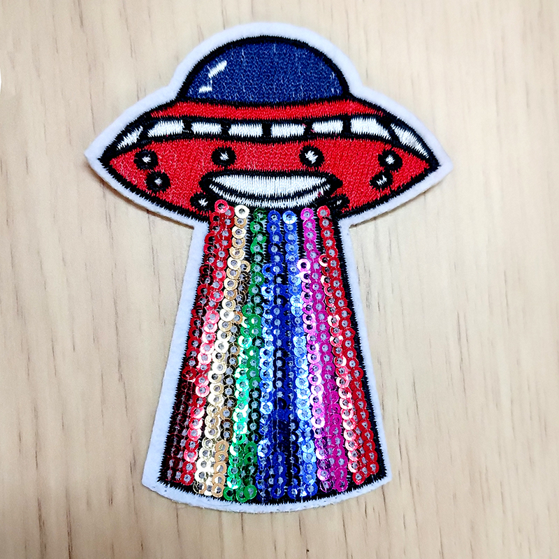 Rainbow Planet Embroidery Applique Patch Sew Iron Badge Iron On