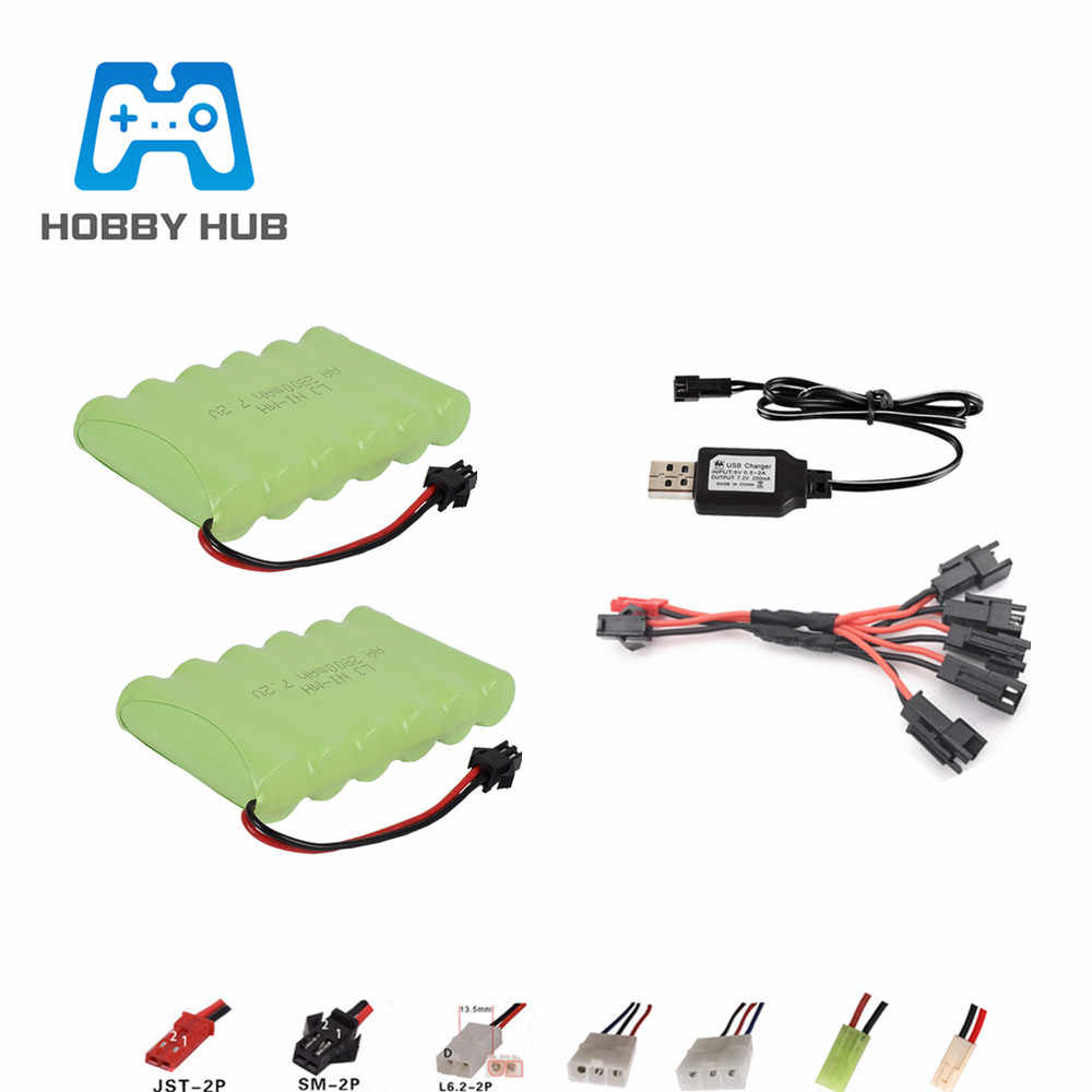 SM Plug 7.2v 2800mah AA NI-MH RC Battery for RC Helicopter Airplane Car Boat